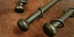 Curtain poles with Stopper finials