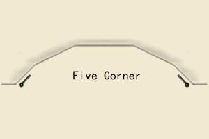 Showing five corner bay drawing
