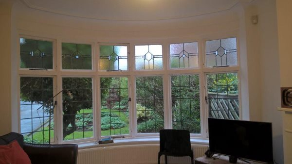 Customer's bay window where the pole is to be fitted.