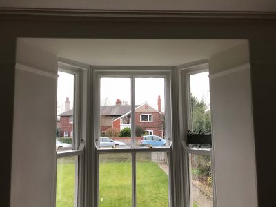 showing a 7 sided bay window