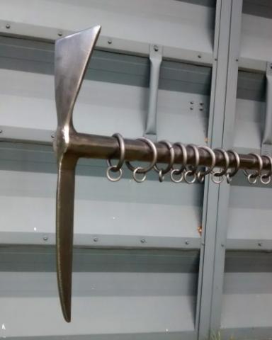 Custom finial of an ice axe